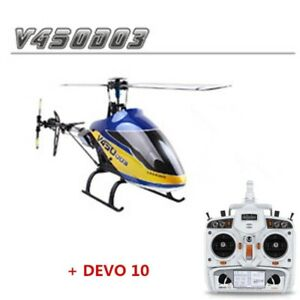 RC Helicopter 6CH 3D Walkera V450D03 With Devo 10 Transmitter Gyro RC Drone Toy