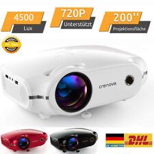 Crenova Beamer Mini Projektor LED Video Heimkino Beamer HD 720P HDMI VGA USB DE