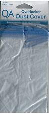 Qa Dust Cover Overlocker Frosted Protective Plastic Blue Trim 32cm X 30cm X 28cm