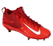 Nike Truite 3 Pro Basse Métal Baseball Cale Taille 12 Rouge Blanc MLB