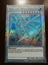 "Gold Secret Rare ""Ghost"" Blue-Eyes White Dragon Mvp1-Engv4 - Altered Art - Nm"