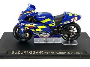 1:24 scale Altaya De Agostini Suzuki GSV-R Moto GP Model - Kenny Robert Jr 2002