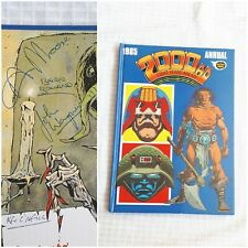 1985 2000 AD Annual. Signed Alan Moore, Brian Bolland, John Wagner,  Kevin...