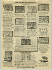 1922 Paper Ad China Toy Tea Sets Waffle Iron Aluminum Pots Pans Cookware