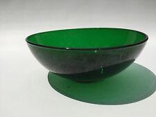 vintage Paden City Glass Co. EMERALD GLO salad bowl 1940's 1950's