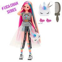 "NEW RELEASE! # Hashtag Licca Chan Doll Figure ""Rainbow Unicorn"" Takara Tomy"