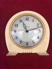 Art Deco Smiths 30 Hora Reloj Crema Bakerlite con plata cara Repuestos O Reparación
