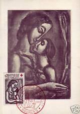 1323  FDC CARTE 1er JOUR  CROIX ROUGE  1961