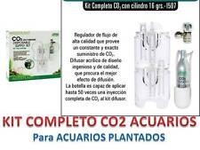 KIT CO2 COMPLETO CAMPANA REGULADOR Botella de 16gr Tubo Valvula Plantas Acuario