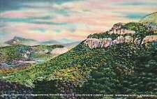 Sunrise, Rocky Mountain and Devil's Court House, North Carolina Vintage Postcard
