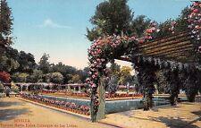Spain postcard Sevilla Parque de Maria Luisa, Estanque de los Lirios