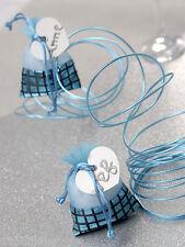 5 Pochettes DISCO Turquoise Ballotins Dragées sachet Mariage baptême musique