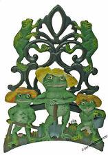 Gartenschlauchhalter Schlauchhalter Wand rustikal Gusseisen Eisen grün Frosch