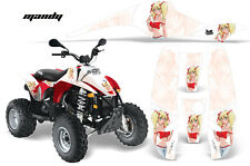 AMR RACING OFF ROAD ATV POLARIS DECAL KIT SCRAMBLER TRAILBLAZER 200 400 500 MRW