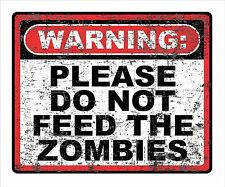 Do Not Feed The Zombies Repositionable Decal Sticker Walking Dead Sci-Fi Gift