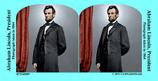 Abraham Lincoln Civil War SV Stereoview Stereocard 3D 4271644089