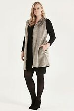 Polyester Checked Coats & Jackets Gilet for Women
