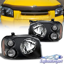 For 2001 2002 2003 2004 Nissan Frontier Factory Style Black Headlights Pair