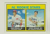 2016 Topps Heritage NL ROOKIE STARS JOSE PERAZA & COREY SEAGER RC QTY AVAILABLE
