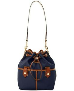 Dooney & Bourke Wayfarer Nylon Drawstring Hobo Navy MSRP 148$
