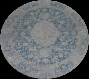 Floral Oushak Turkish Oriental Area Rug Living Room Hand-knotted Wool Round 8x8