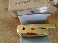 Andersen Sash Window lock set HP Brass 0102628 minus keeper