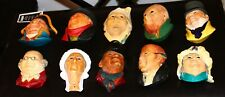 Huge Lot of 10 Bosson Charles Dickens Collection Heads | Decorative Chalkware