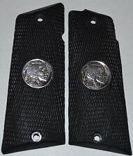 Llama 45 ACP Max1 -C/F pistol grips black plastic with real buffalo nickels