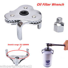 UNIVERSAL 3 JAWS TWO WAYS OIL FILTER WRENCH REMOVAL TOOL ADJUSTABLE HEAVY DUTY
