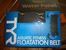 NEW TYR Aquatic Fitness Floatation Belt Black Blue Adjustable Water Aerobics