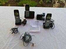 New Batterries Panasonic KX-TGE230 3 Handsets Cordless Phone Answering Machine