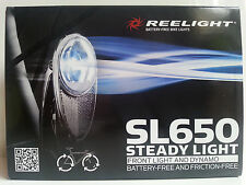 New Reelight SL650 steady bike bicycle front light & dynamo no batteries