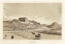 DONAUSTAUF - GESAMTANSICHT MIT WALHALLA - Stahlstich um 1840