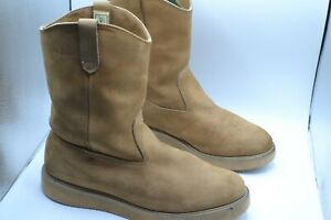 LL BEAN SIZE 12M VIBRAM OIL RESISTANT INSULATED TAN NUBUCK WESTERN WORK BOOTS