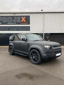 """20"""" PROJEX DFT alloy Wheels Gloss Black WITH Tyres Land Rover Defender L633"""