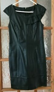 """LOVE LABEL Black Soft Real Leather Dress Size:8 - Chest: 32"""""""