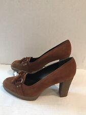 Stuart Weitzman Womens Pumps Brown Suede Heels Size 8M 3W51659 Tassel