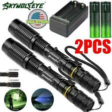 Tactical Police 350000LM 5-Modes T6 LED Flashlight Aluminum Zoom Torch Light US