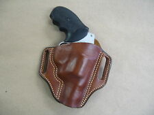 Ruger SP101 5 Sht Revolver Leather 2 Slot Molded Pancake Belt Holster CCW TAN RH
