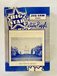 Vintage BIG STAR Jig-Saw Picture Puzzle - THE WHITE HOUSE - Original Box