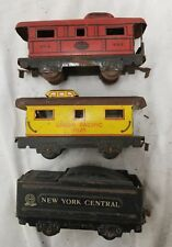 Vintage Marx Litho Electric Train 4 Wheel car lot of 4. O scale. (11H)