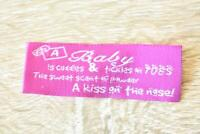 Cuddles and Tickles Words Letters 8pcs 20x60mm Woven Clothing Label Tags Sew On
