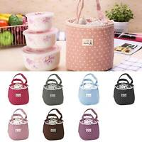 Adult Women Ladies Girls Portable Lunch Bag Insulated Box Picnic Tote Thermal UK