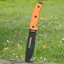 "NEW! Official USMC MARINES 12"" Orange Hunting Knife Teflon Blade w/ Molle Sheath"