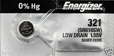 1 New ENERGIZER SR616SW 321 1.55V Watch Battery Aussie Stock Fast Postage
