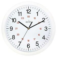 Acctim White Metro 24 Hour Plastic Wall Clock 300mm 21162 [ANG21162]
