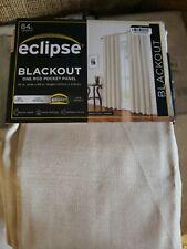 "Eclipse Black Out One Panel Khaki Curtain Panel Eclipse 42"" x 84"""