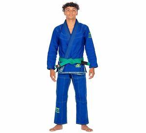 Fuji Kids Youth Childrens Suparaito Brazilian Jiu Jitsu Gi Jiu-Jitsu BJJ  - Blue