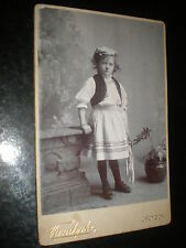 Old cabinet photograph gypsy girl by Vandyke at Croydon  c1890s