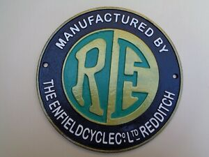 ROYAL ENFIELD Motorcycle Cast Metal SIGN REDDITCH Superb Gift not enamel #cm
